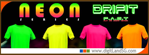 four colour neon tee