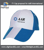 Logo-Printing-on-Cap-White-Blue-Cotton-Cap