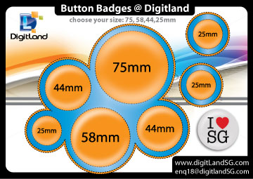 Button Badges size-compare