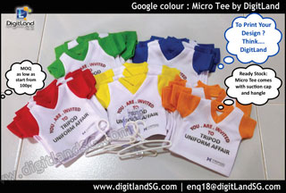 Micro Tee with Google colours in sleeve