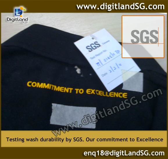 DigitLand test print Durability by SGS